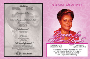 Obituary Printing Services in Katy Texas