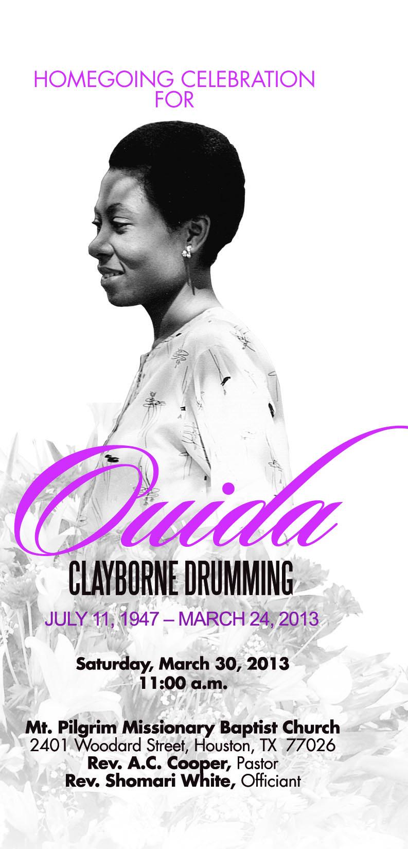 Ouida Clayborne Drumming