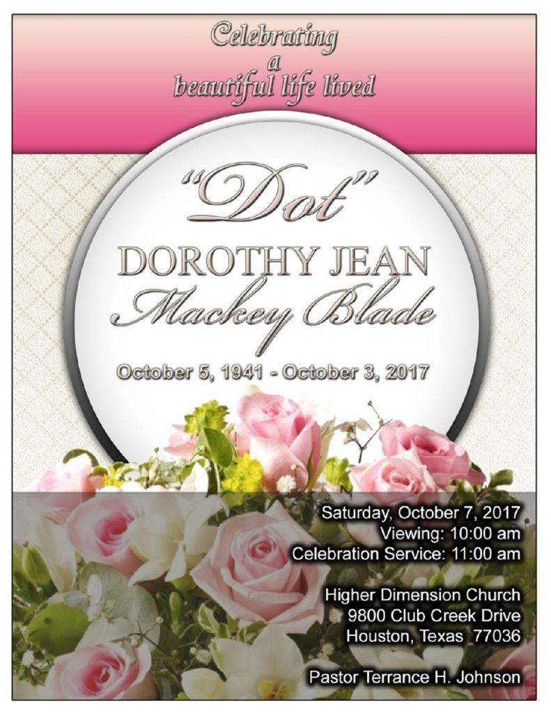 Dorothy Jean Mackey Blade