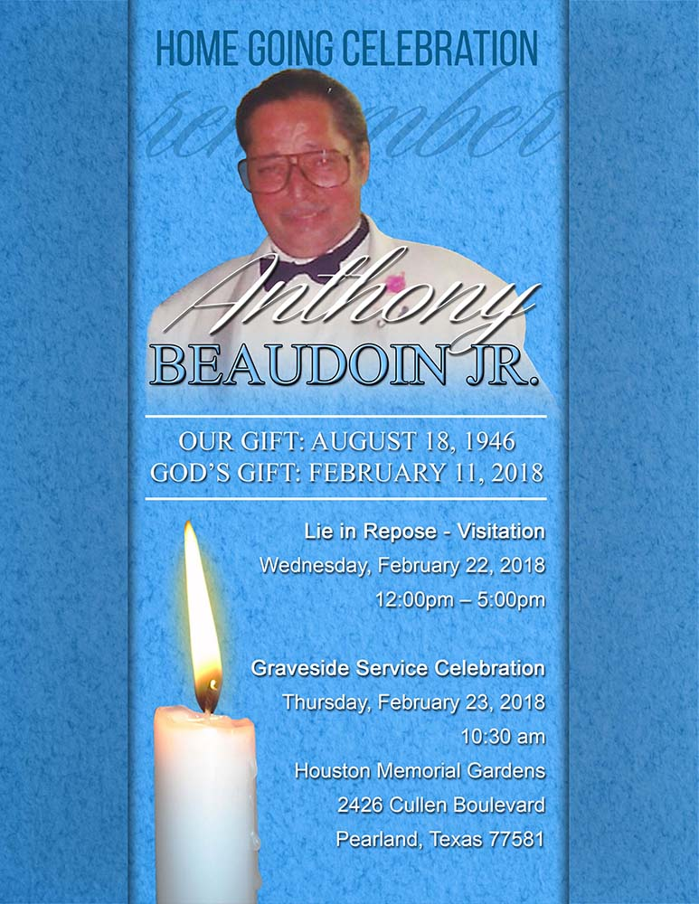 Anthony Beaudoin, Jr 1946-2018