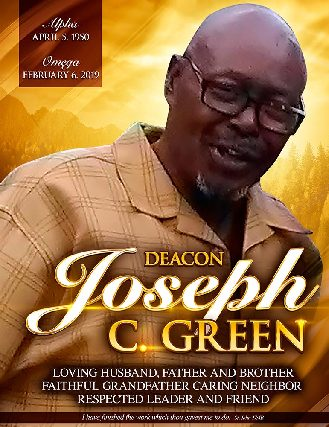 Deacon Joseph C Green 1950-2019