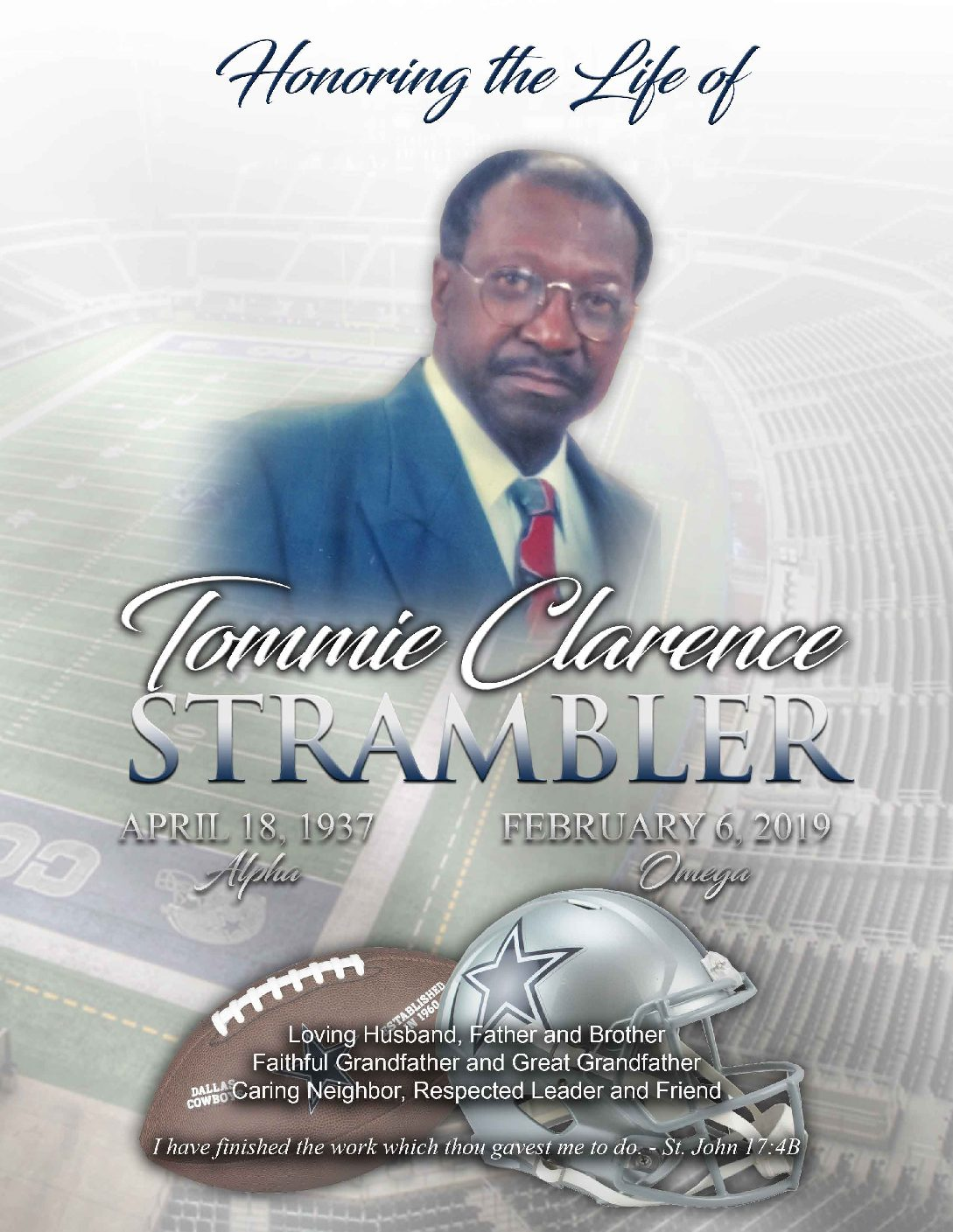 Tommie Clarence Strambler 1937-2019