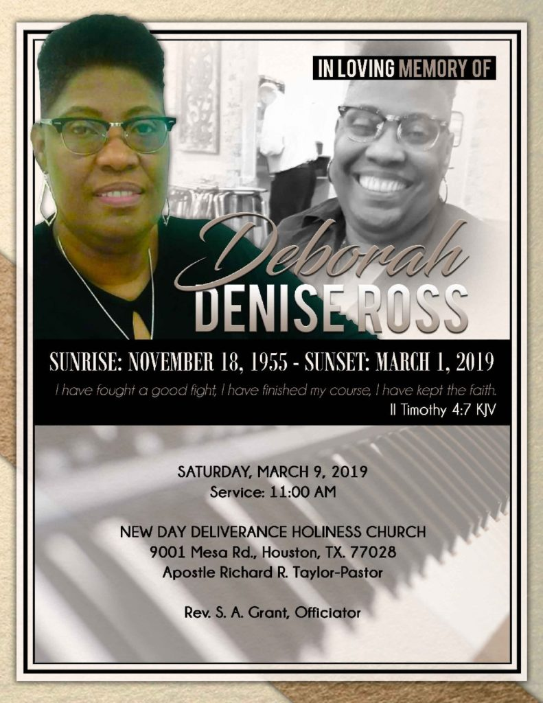 Deborah Denise Ross 1955-2019