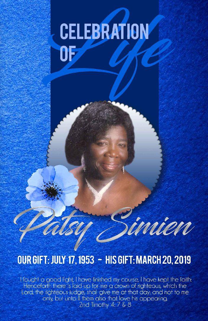 Patsy Simien 1953-2019