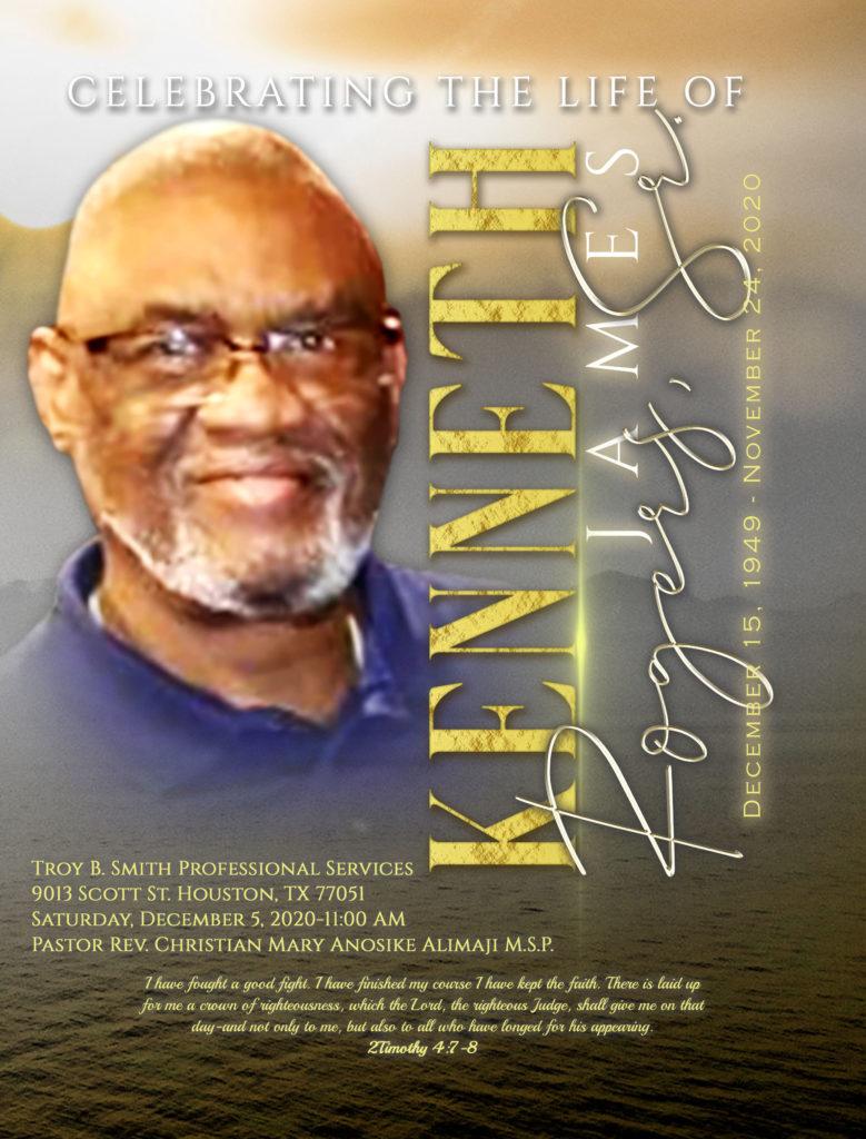 Kenneth James Roger Sr. 1949-2020