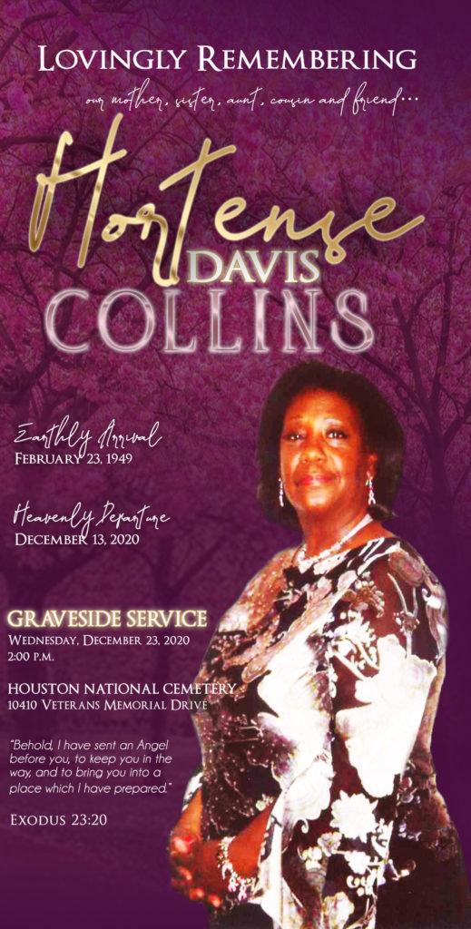 Hortense Davis Collins 1949-2020