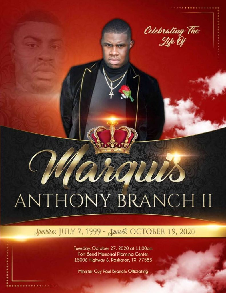 Marquis Anthony Branch II 1999 – 2020