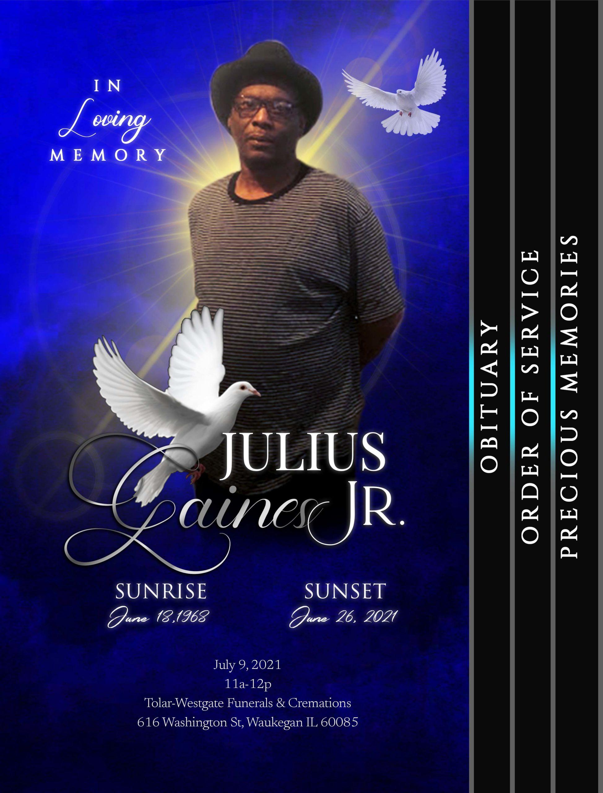 Julius Gaines Jr 1968-2021