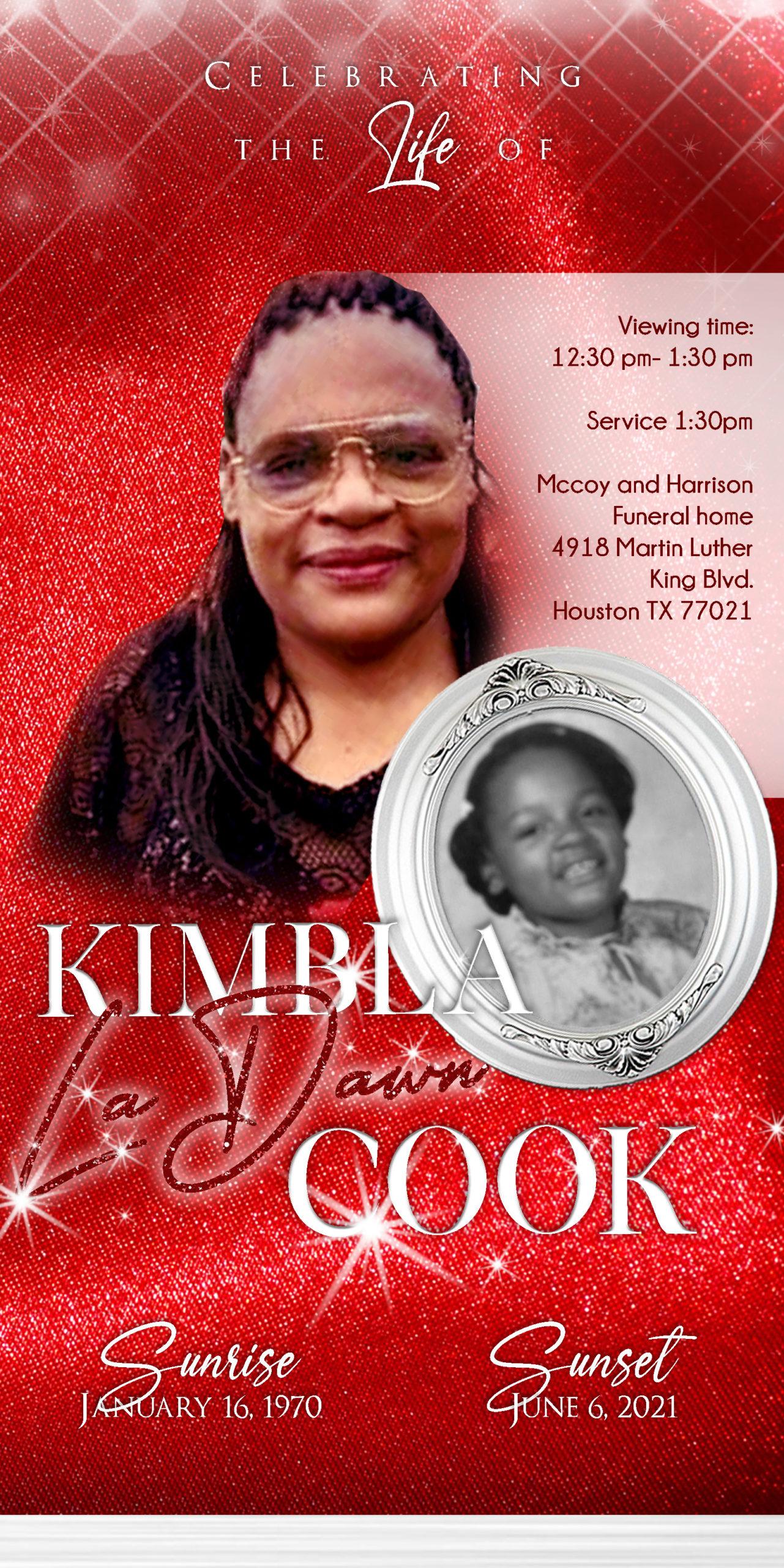 Kimba Cook 1970-2021