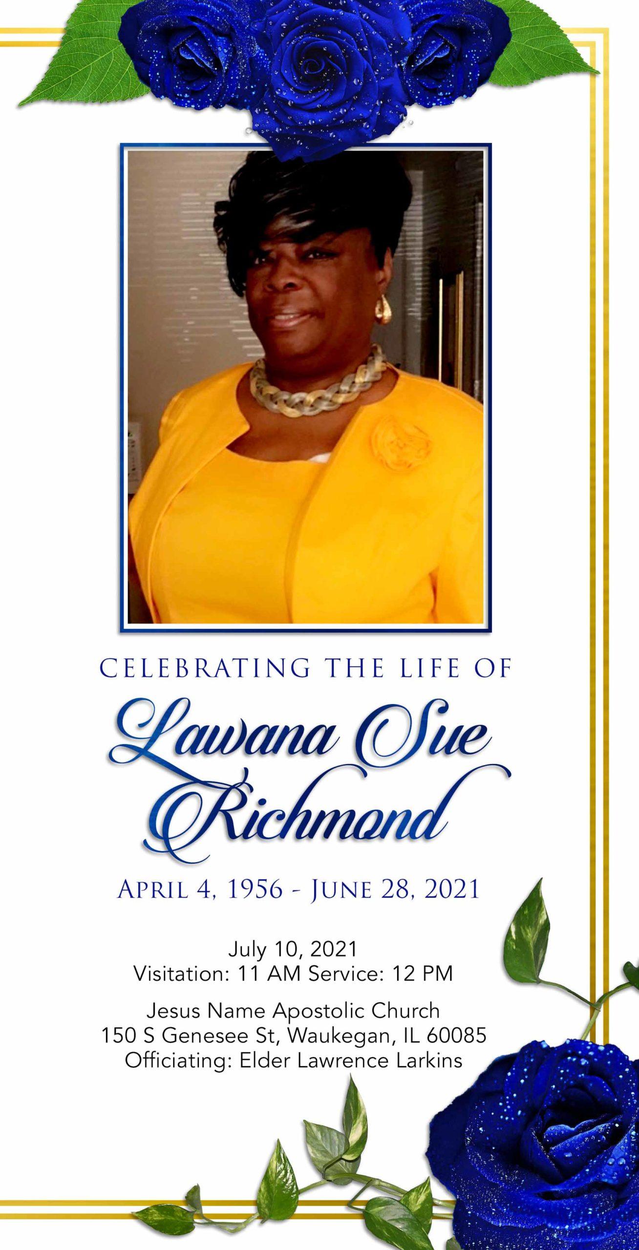 Lawana Sue Richmond 1956 – 2021