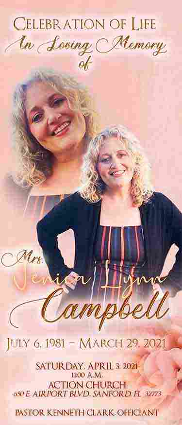 Jenica Lynn Campbell 1981-2021