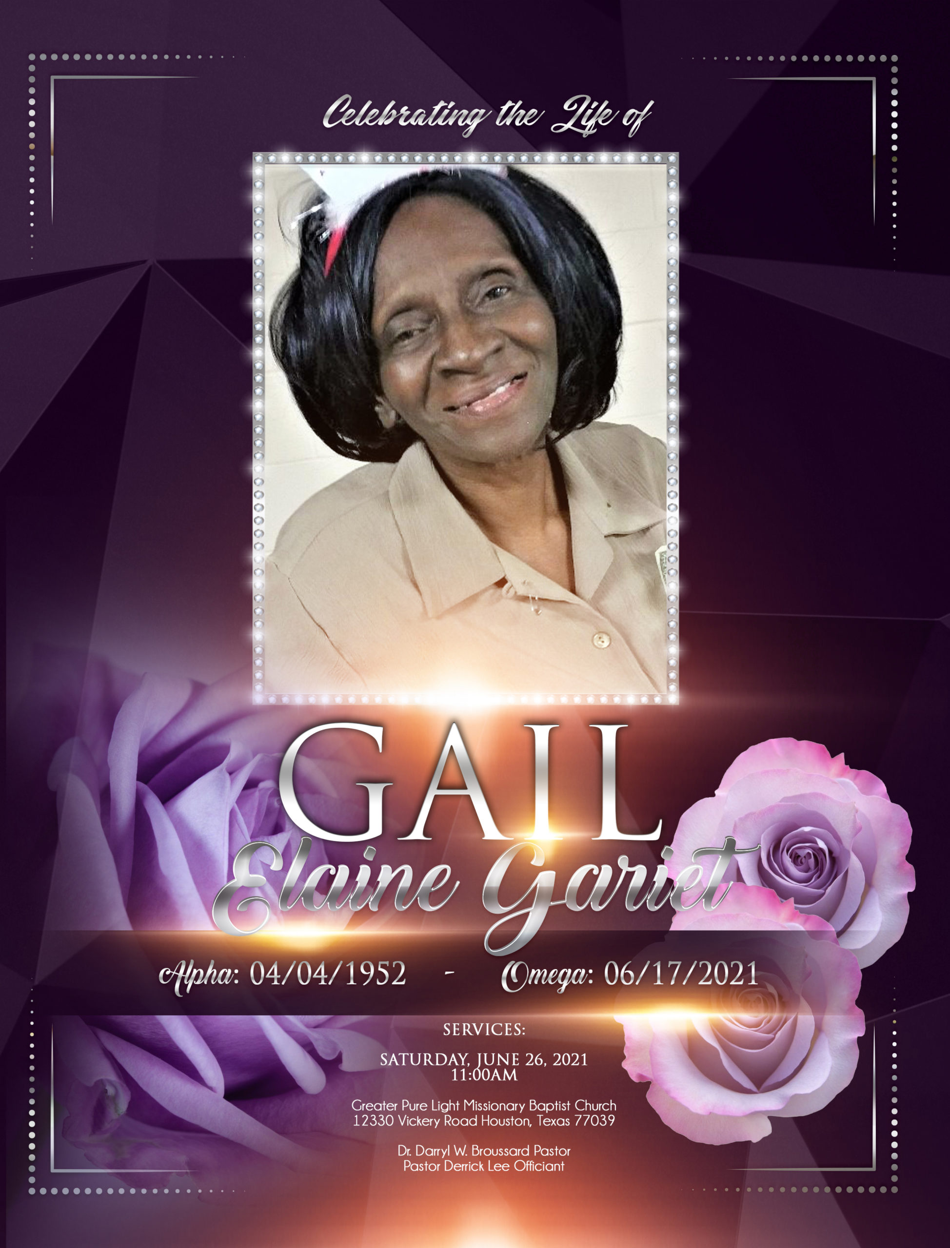 Gail Elaine Gariet 1952-2021