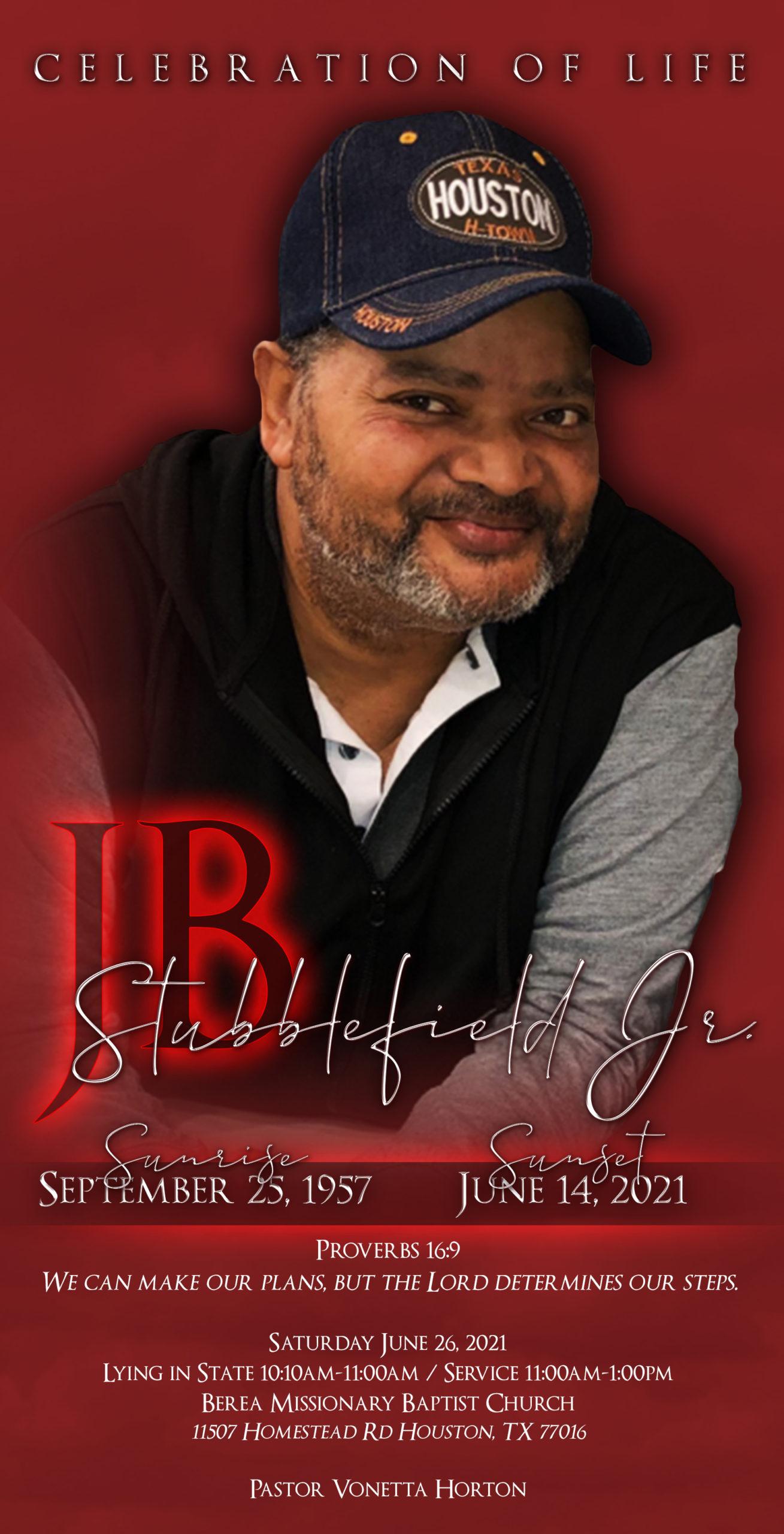 JB Stubblefield Jr. 1957-2021