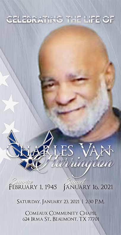 Charles Van Harrington 1945-2021