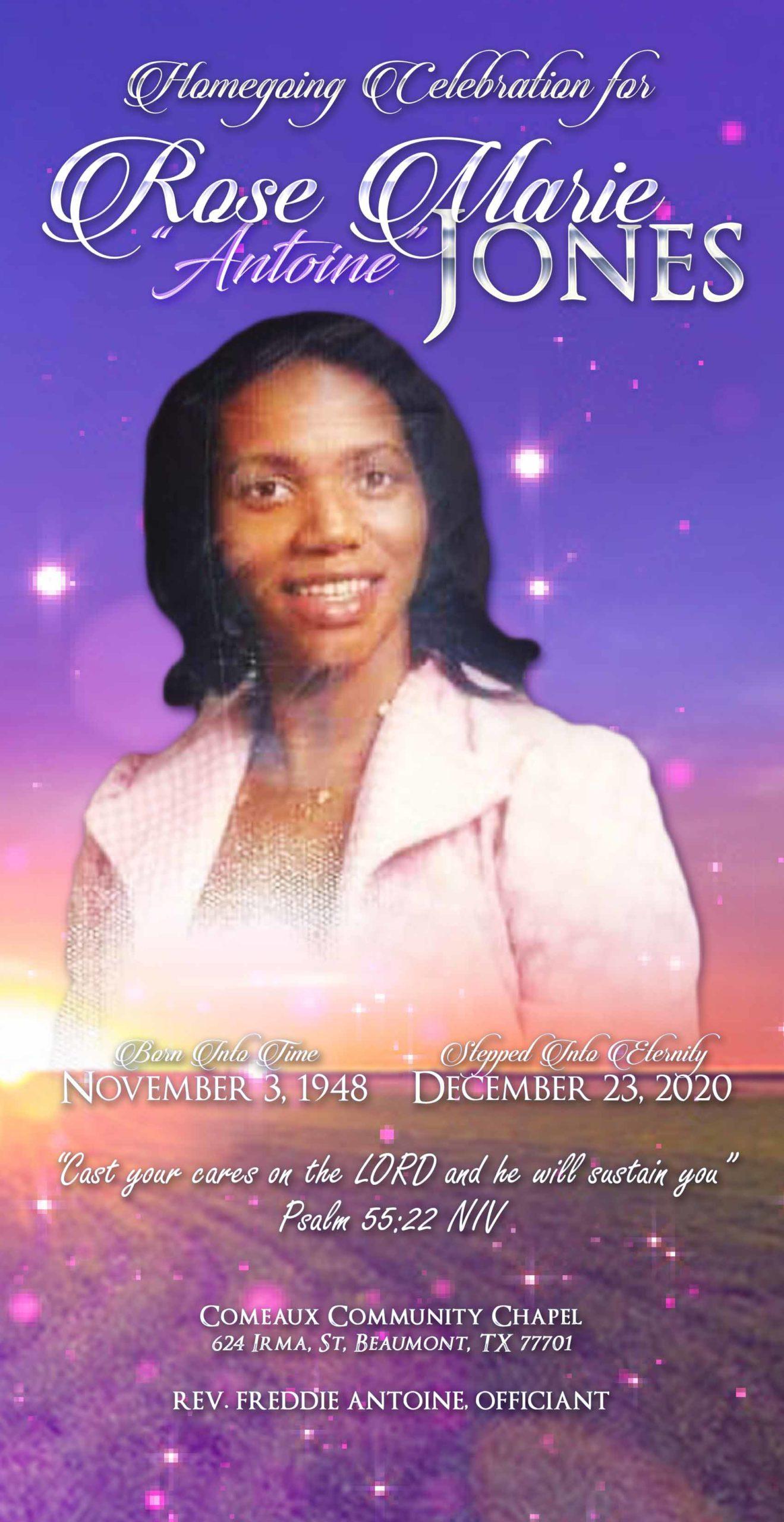 Rose Marie Jones 1948-2021