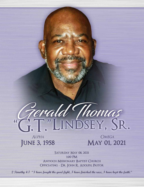 Gelard Thomas Lindsey Sr. 1958 – 2021