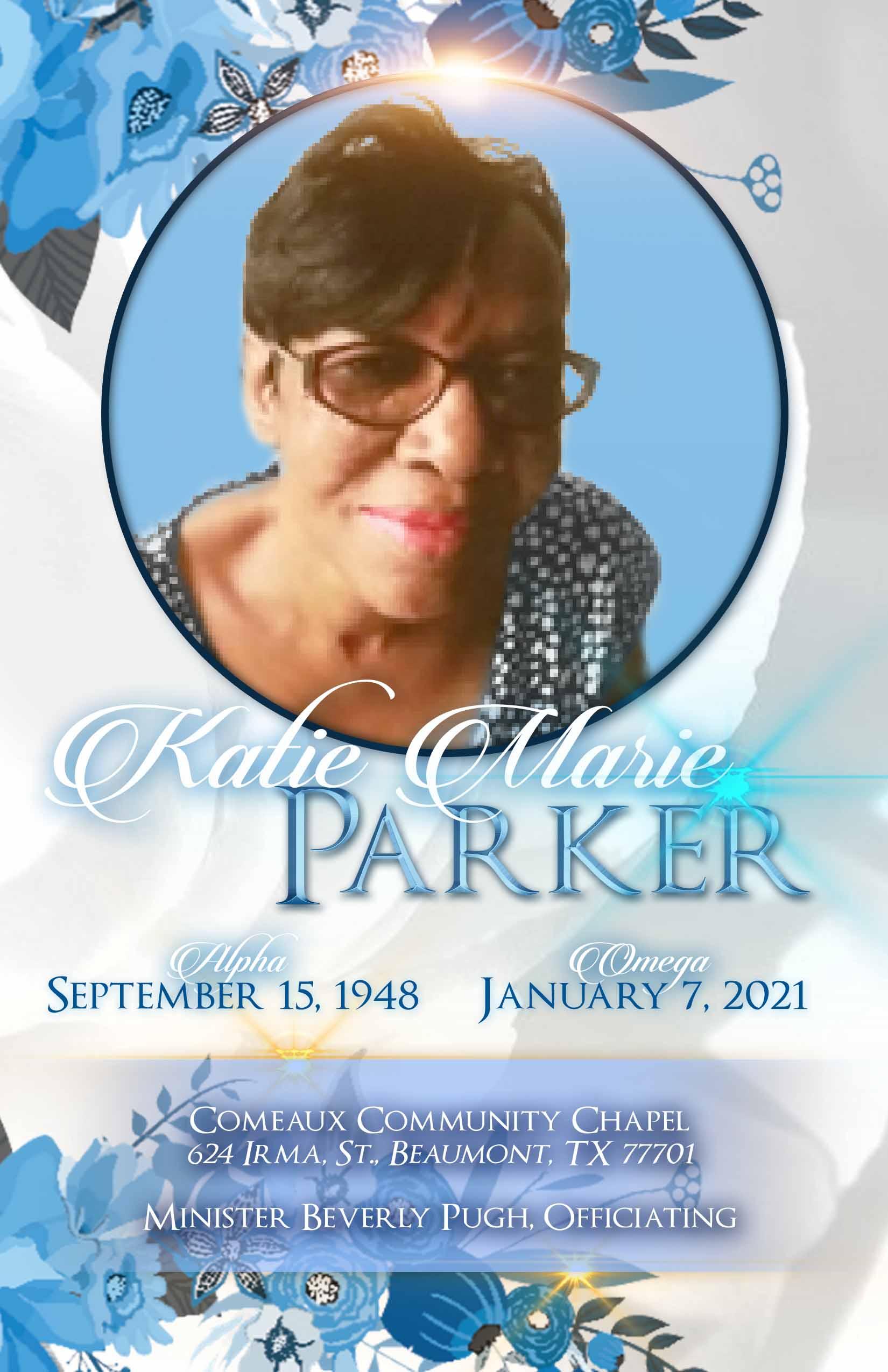Katie Marie Parker 1948-2021