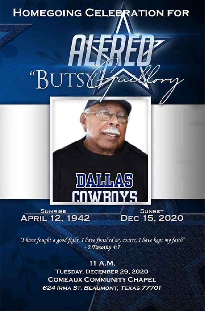Alfred Guillory 1942-2021