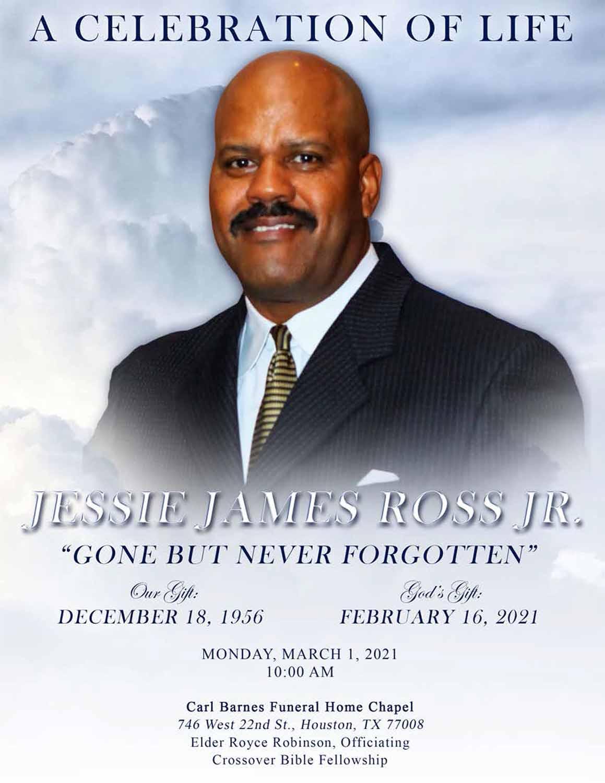 Jessie James Ross Jr. 1956 – 2021
