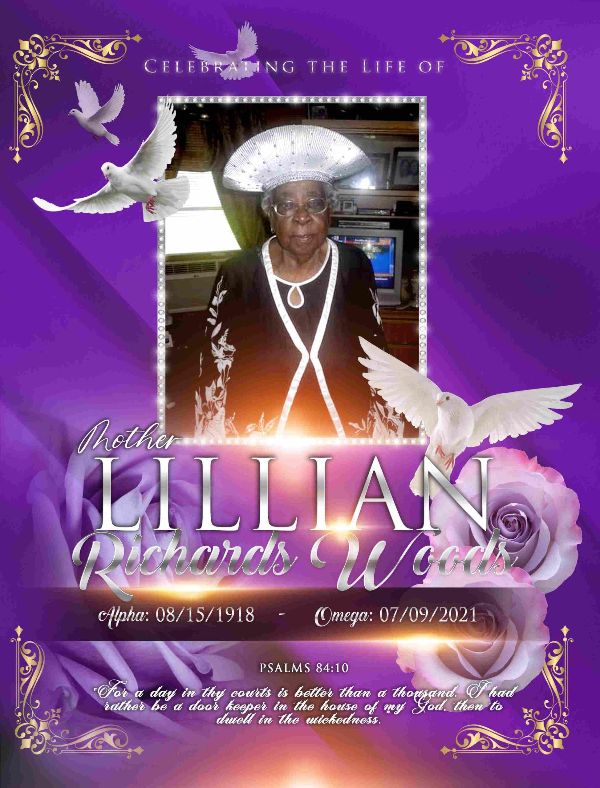 Lillian Richards Woods 1918 – 2021