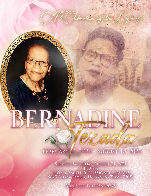 Bernadine Texada 1936 – 2021
