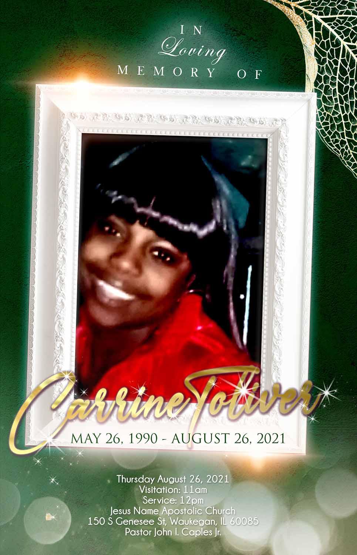 Carrine Toliver 1990-2021