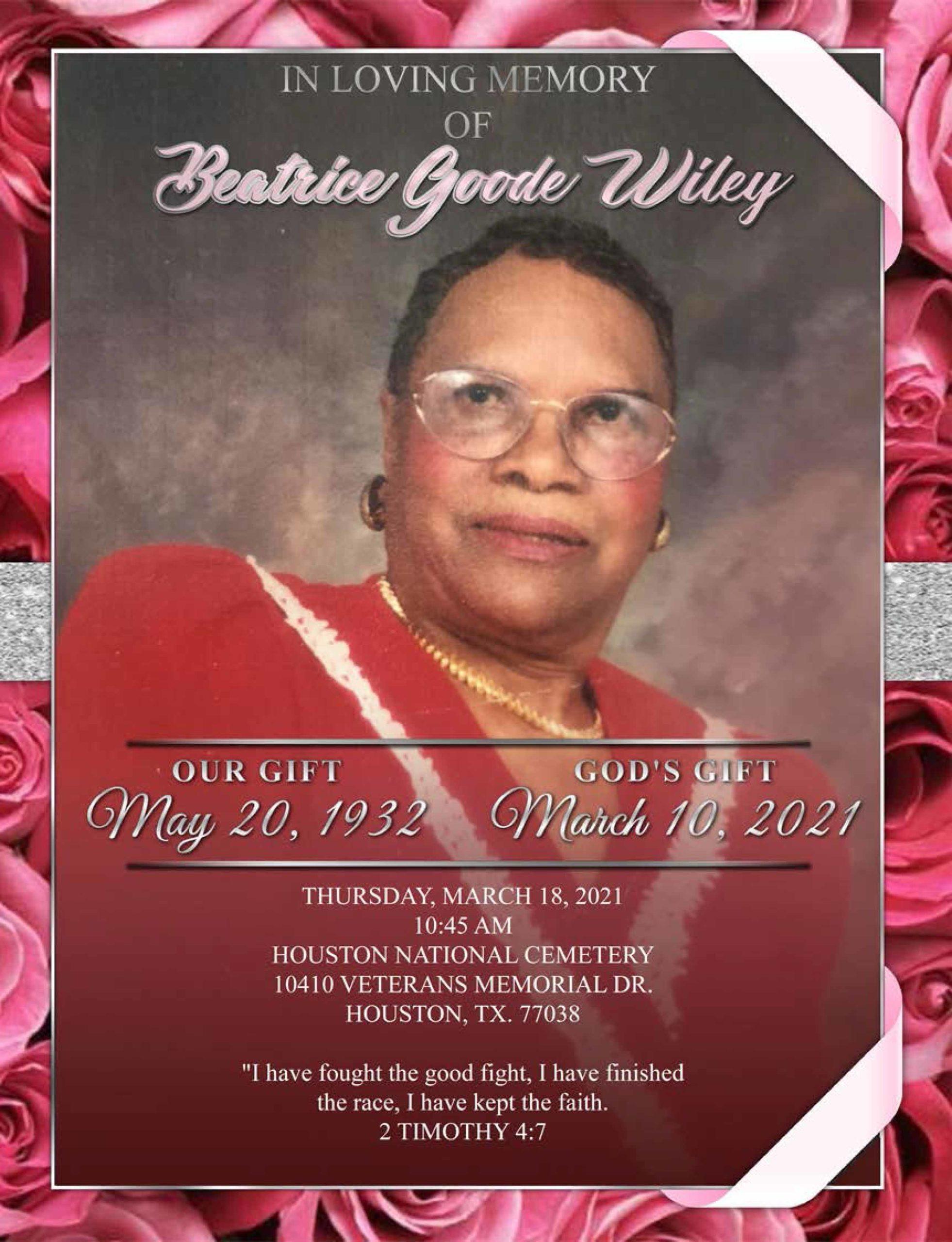 Beatrice Goode Wiley 1932-2021